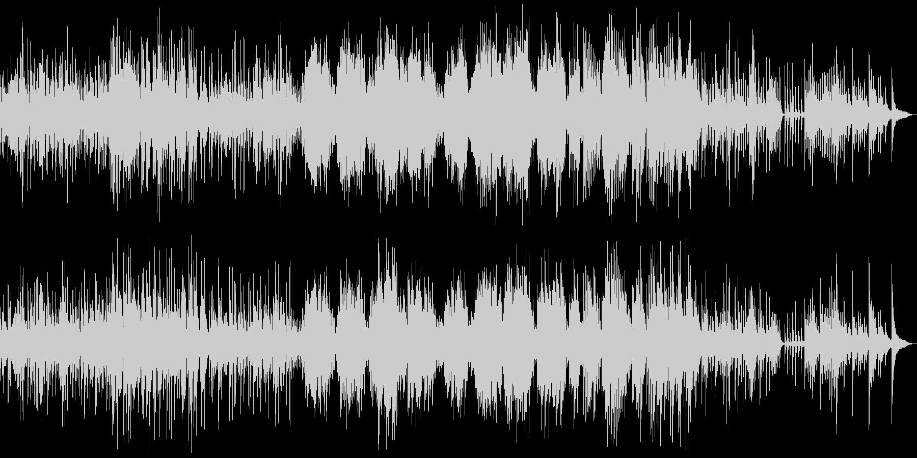 ショパン雨だれクラシックピアノでシックの未再生の波形