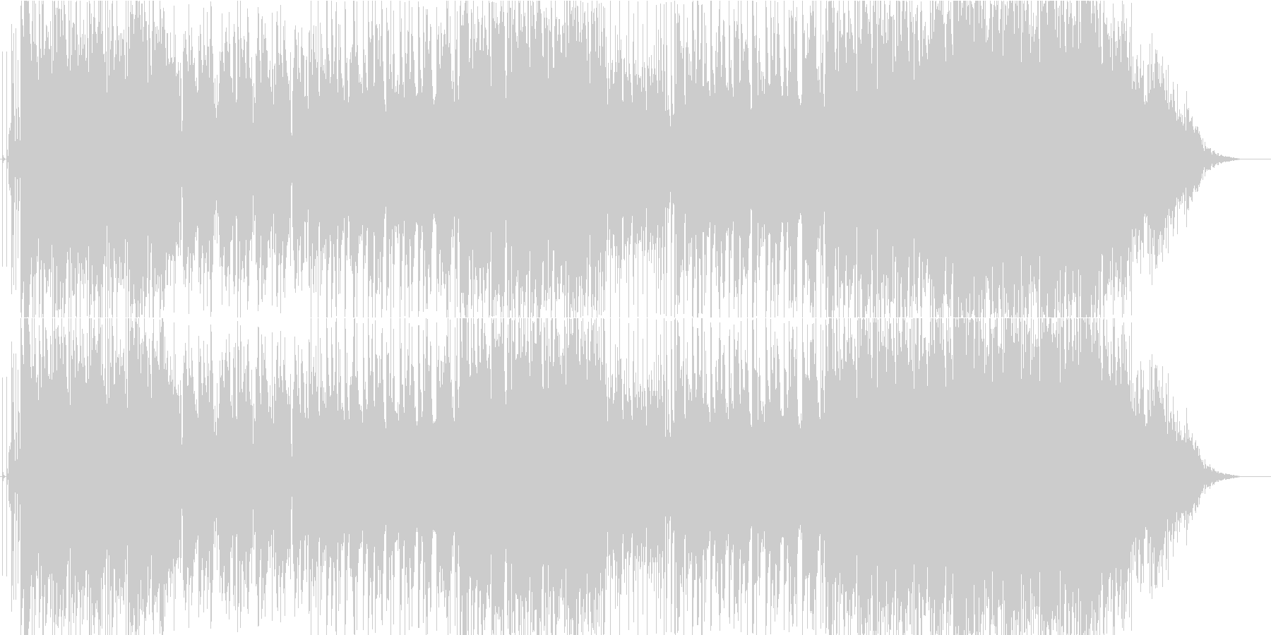 スローでメロディクなロックギターインストの未再生の波形