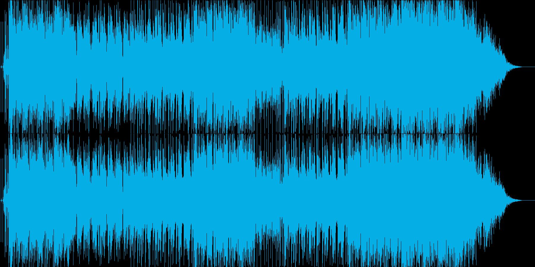 スローでメロディクなロックギターインストの再生済みの波形