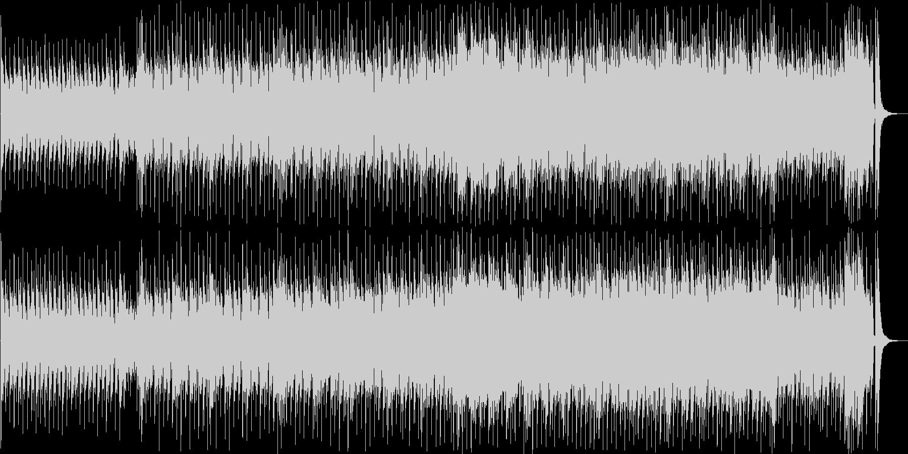 ピアノがメインの楽しい映像に合うハウスの未再生の波形