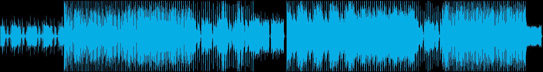 グルーヴィーなリズムとギターリフの再生済みの波形