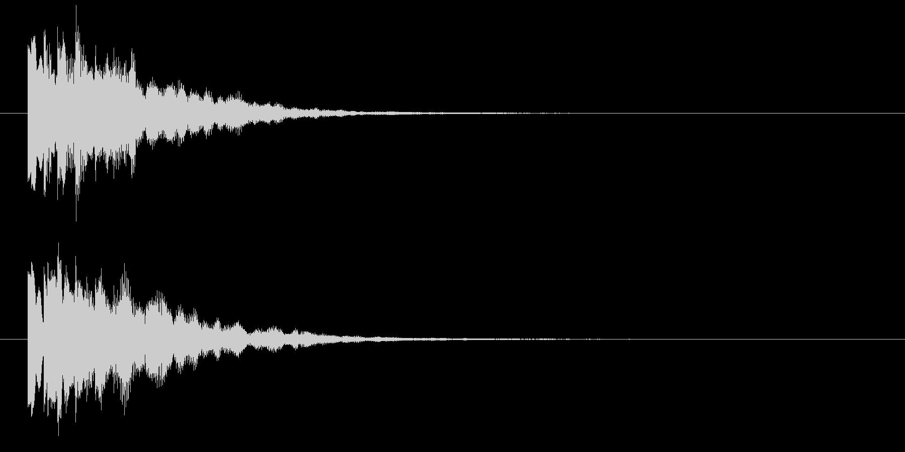 ピロリン④(スタート・クリア・決定音)の未再生の波形