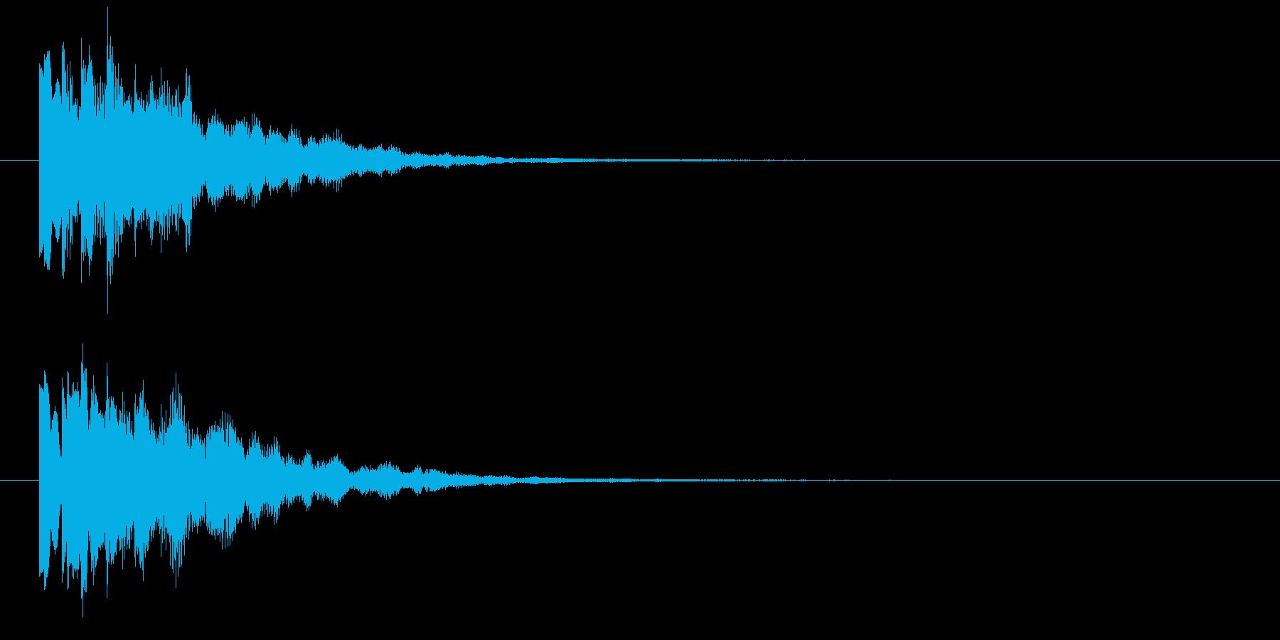 ピロリン④(スタート・クリア・決定音)の再生済みの波形