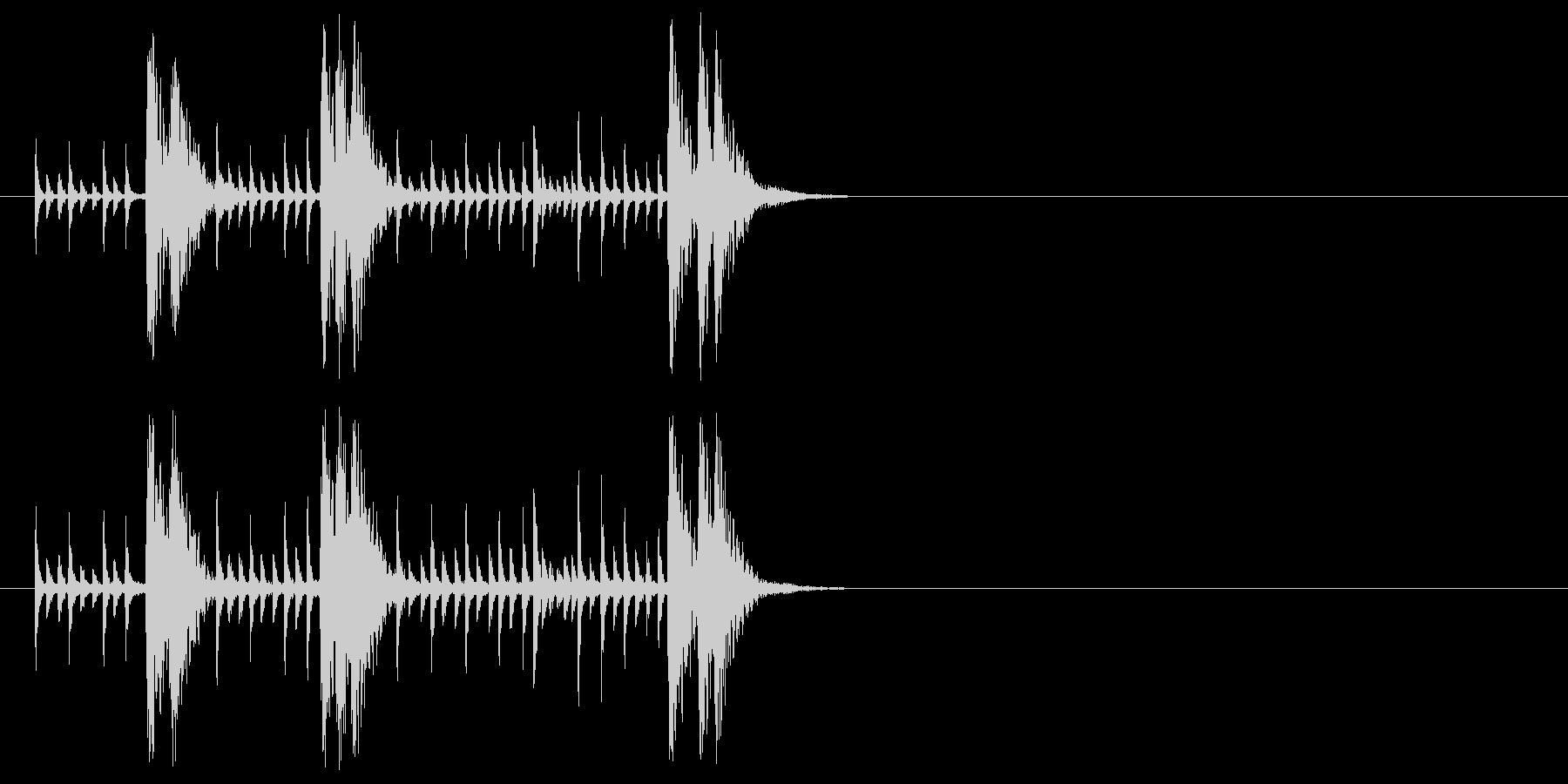 アンサンブル及びラテン系ジングルの未再生の波形