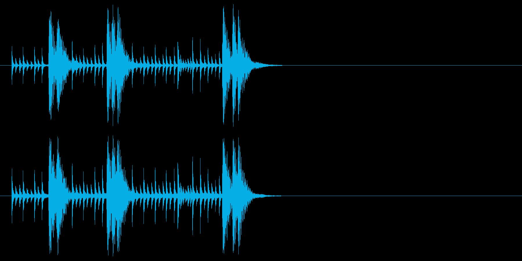 アンサンブル及びラテン系ジングルの再生済みの波形