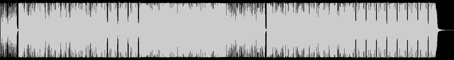 スラップベースが主役のノリノリなBGMの未再生の波形