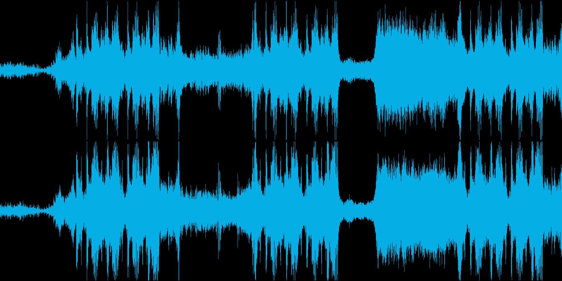 悲しく荘厳な管弦楽曲の再生済みの波形