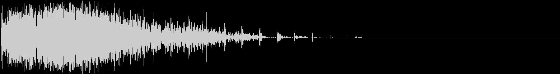 シューッという音の未再生の波形