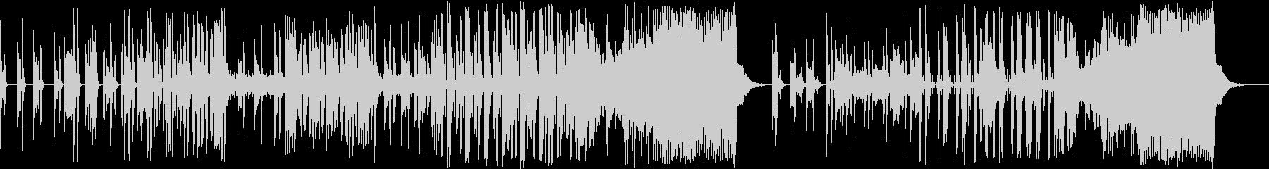 シンセを使った不穏なドラムンベースの未再生の波形