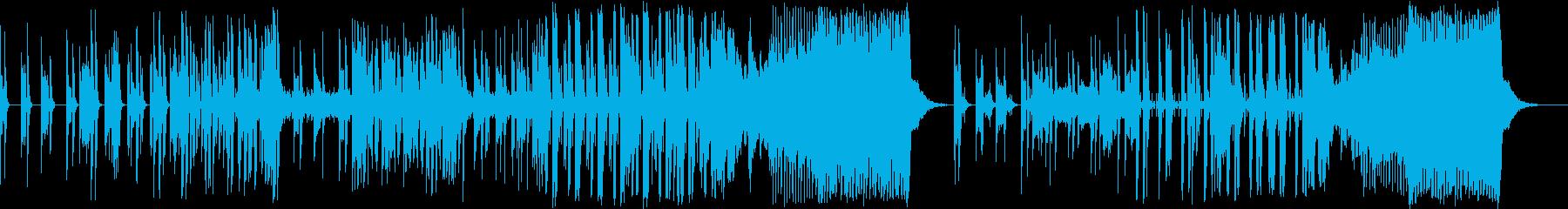 シンセを使った不穏なドラムンベースの再生済みの波形