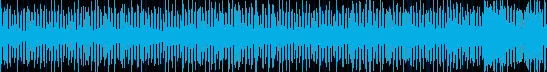 緊張感を高めるシンプルなループの再生済みの波形