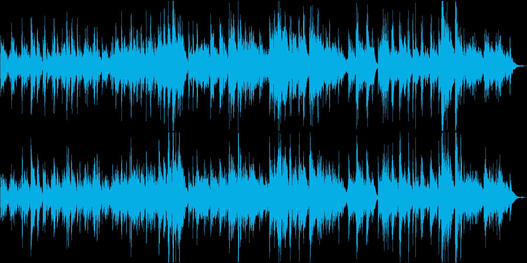 ピアノ主体の回想系・癒しアンビエントの再生済みの波形