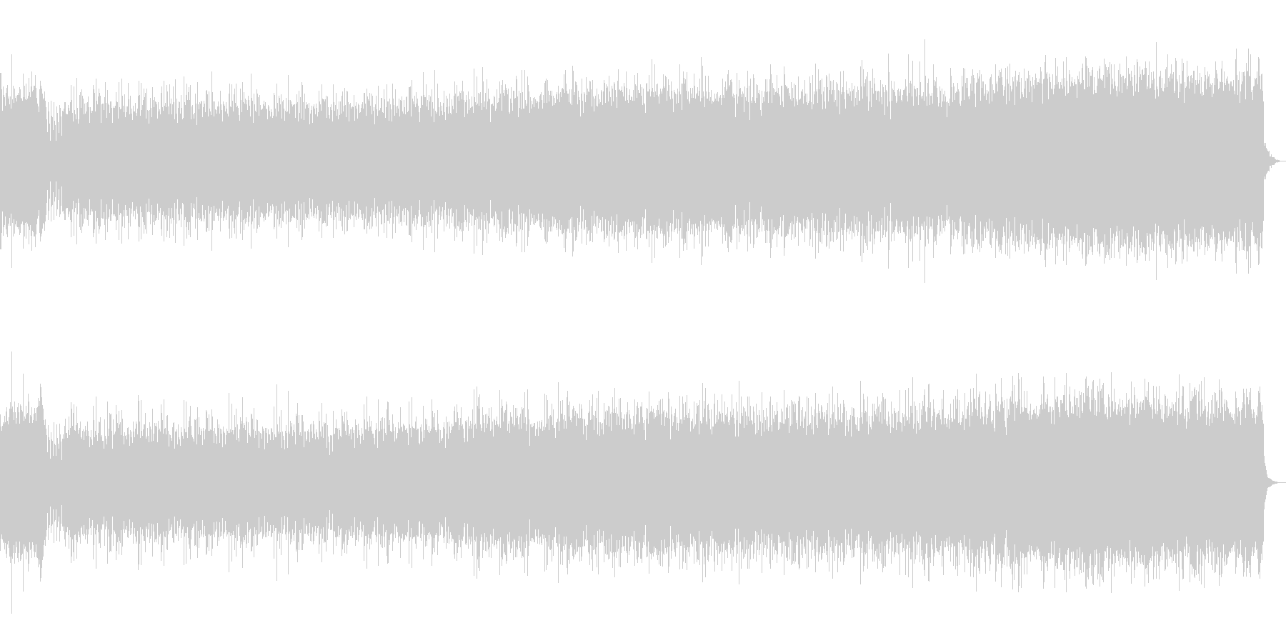 パッヘルベル カノンのエレクトリカルの未再生の波形