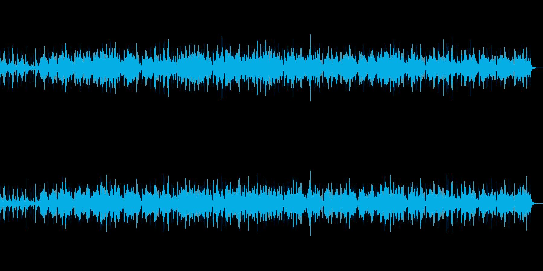 まったりとしたボサノバの再生済みの波形
