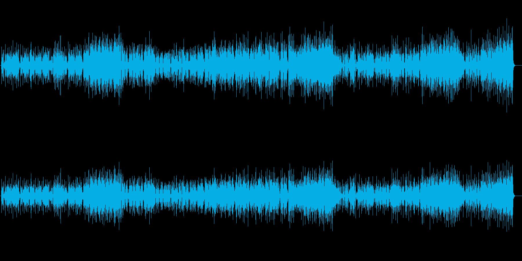 落ち着いた雰囲気のピアノフュージョンの再生済みの波形