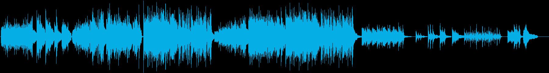 ピアノがメインのミニシアター風の音楽の再生済みの波形