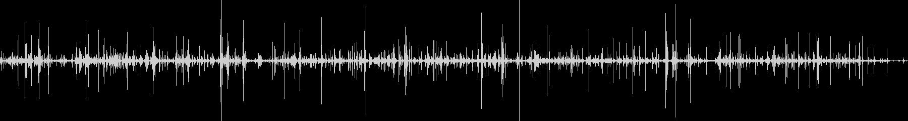 犬がカリカリのドッグフードを食べる音の未再生の波形
