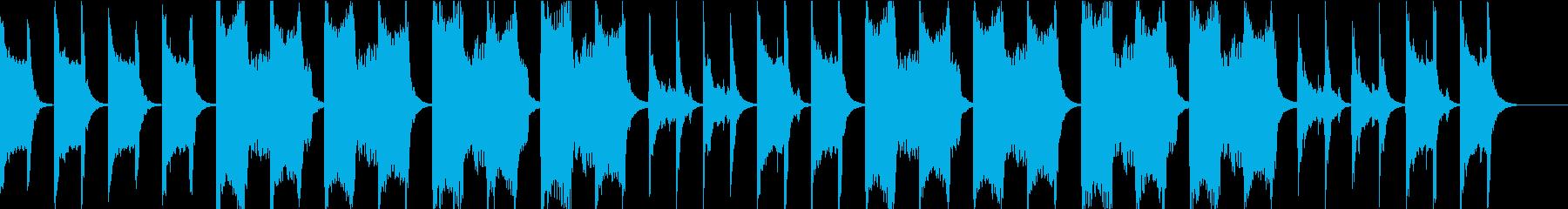 じっとりとした暗い水の洞窟のBGMの再生済みの波形