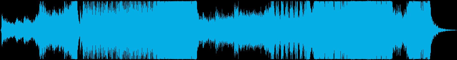 ダークファンタジーなハリウッド予告編の再生済みの波形