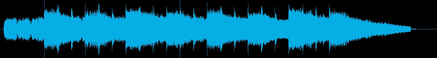 ノスタルジックなアコーディオンのジングルの再生済みの波形