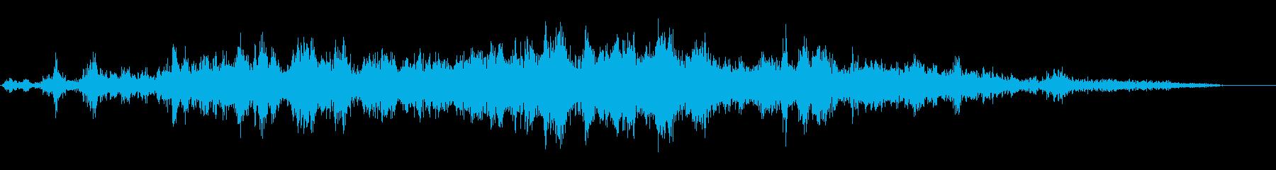 飛行機、ジェット機の飛行音の再生済みの波形