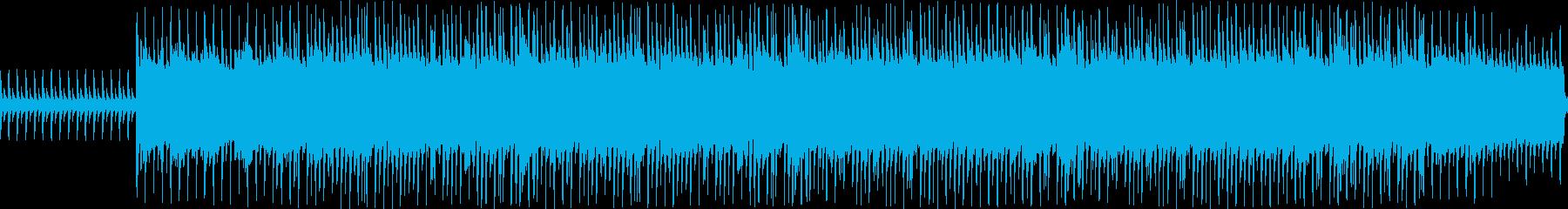 シンセとマリンバののんびりしたループ曲の再生済みの波形