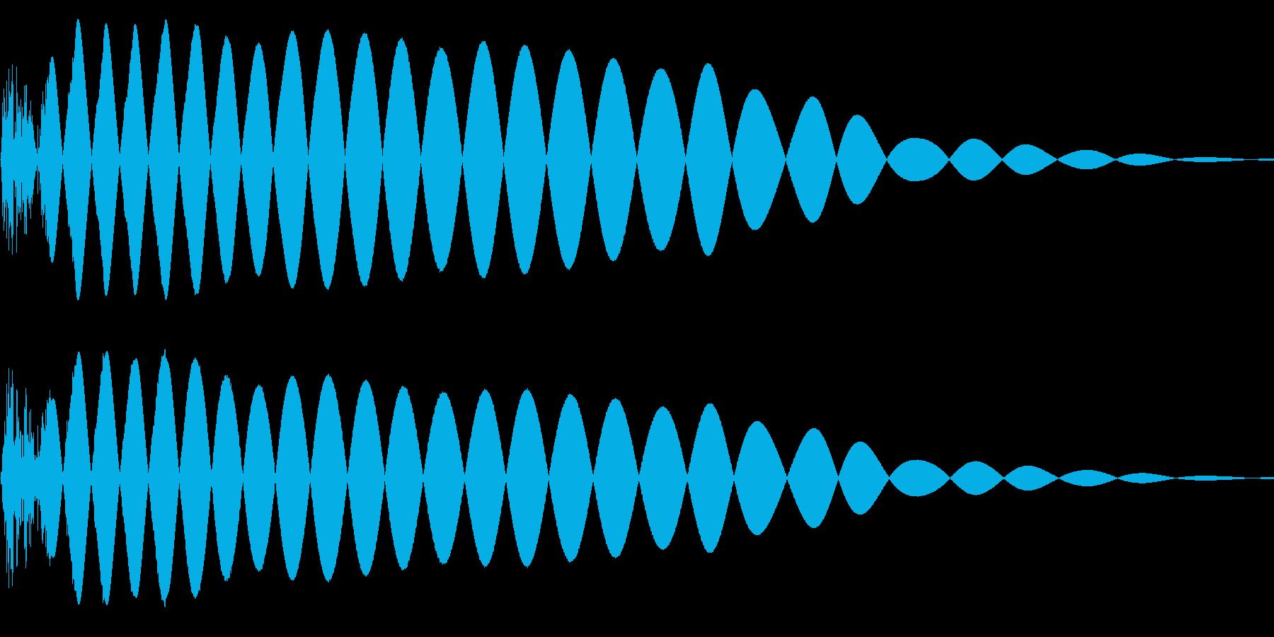 EDMやIDM系のバスドラム! 05の再生済みの波形