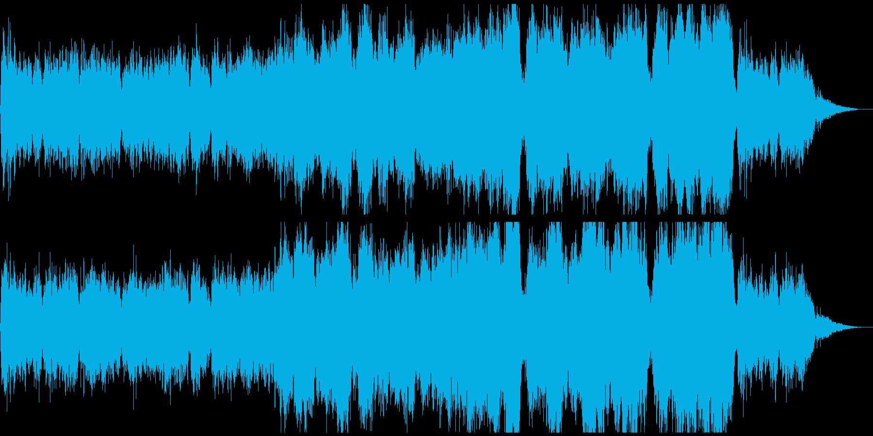 クワイヤを使った祈りをイメージした曲の再生済みの波形
