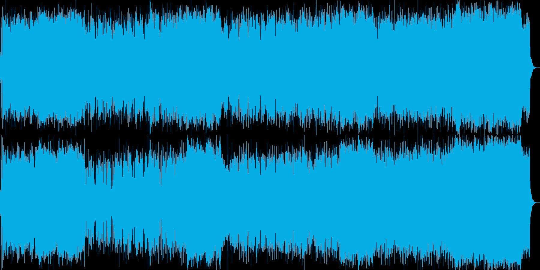 ギターロック、切ない、コーラスの再生済みの波形