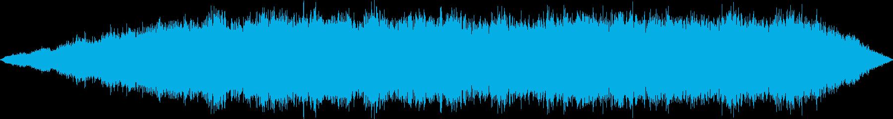 リラックスできる音楽の再生済みの波形