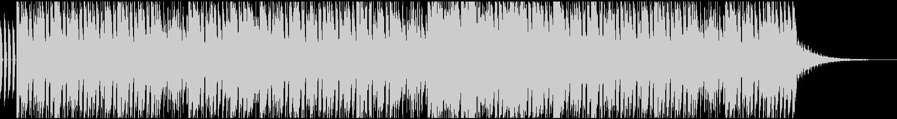 オープニング用テクノサウンドの未再生の波形