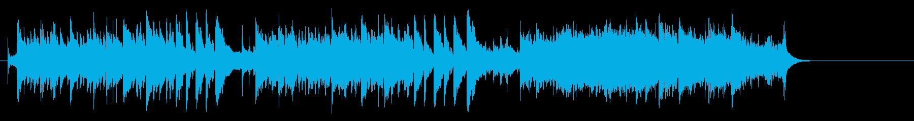 大自然の清らかなアコースティックBGMの再生済みの波形