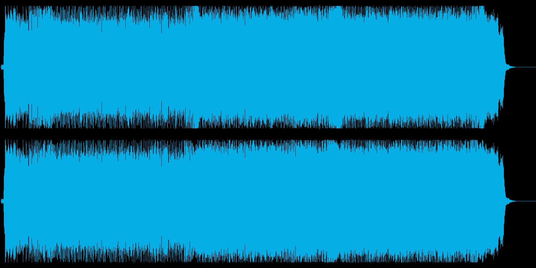 エネルギッシュで複雑なギターロックの再生済みの波形