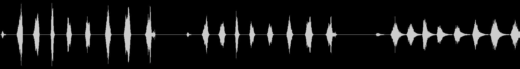 ローププル、ショート、6バージョン...の未再生の波形