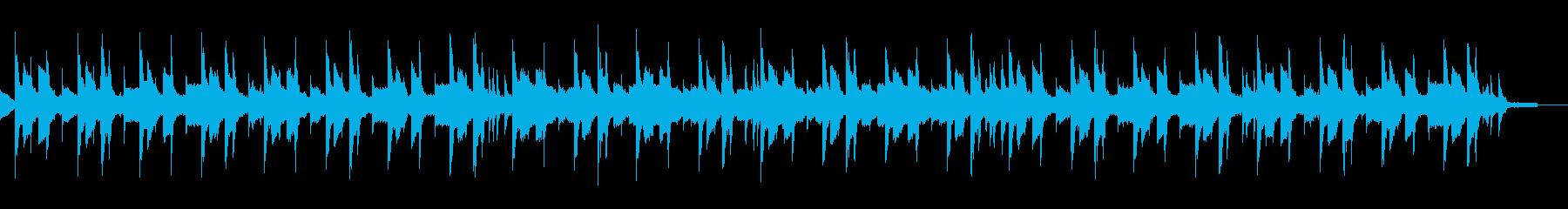 ゆったりとした切なくセンチメンタルな曲の再生済みの波形