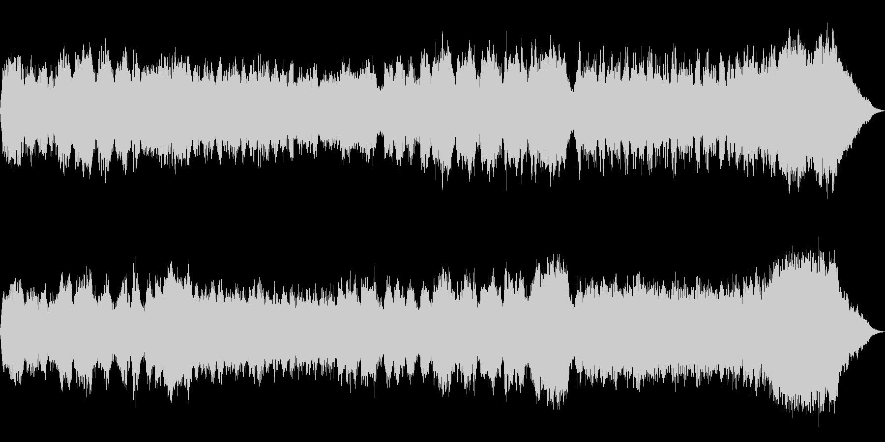 テーマ「雪」30秒BGMの未再生の波形