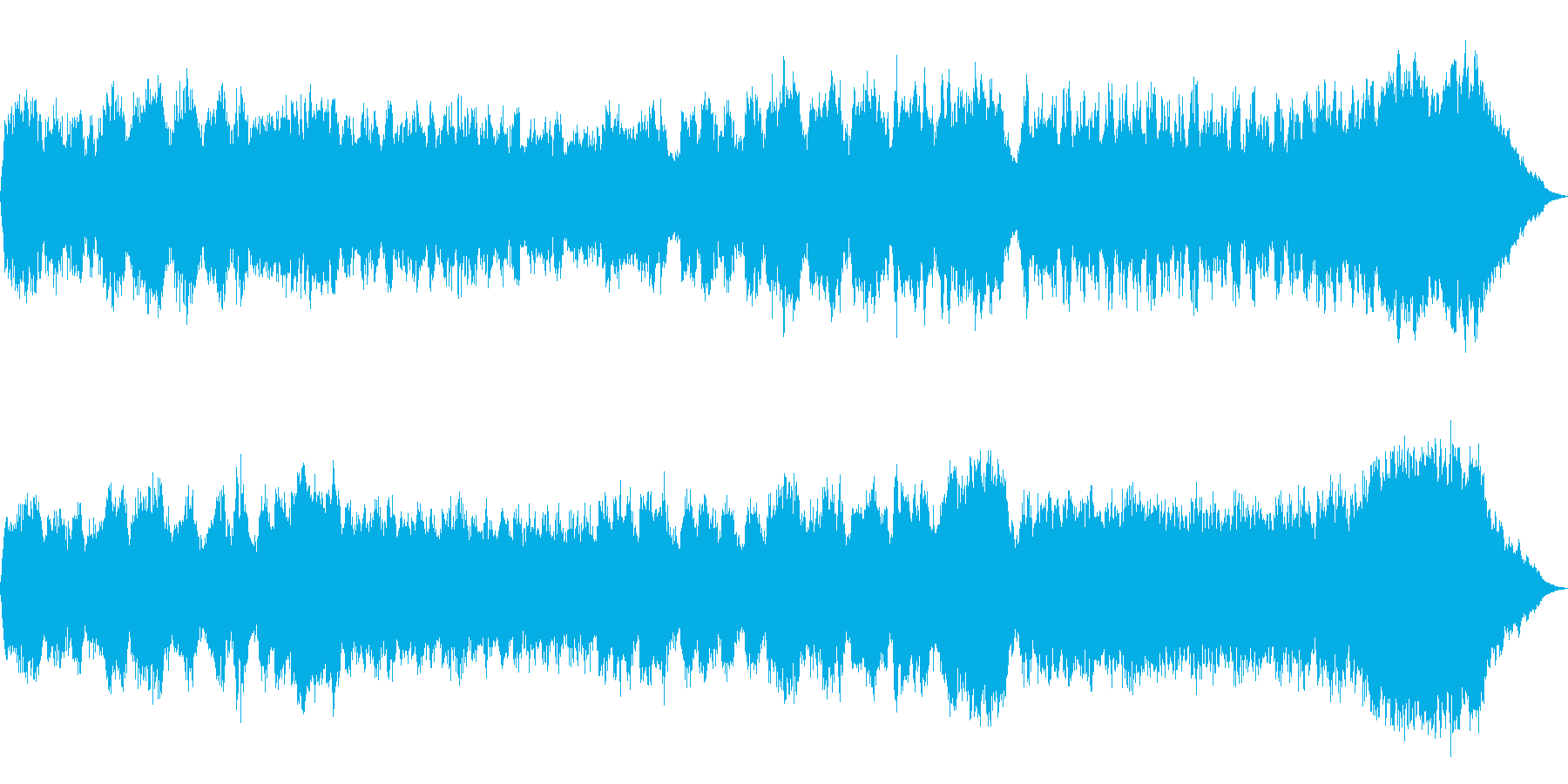 テーマ「雪」30秒BGMの再生済みの波形