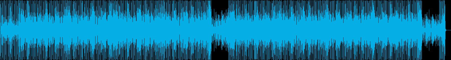 ウクレレで南国風BGMの再生済みの波形