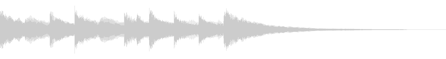 ハープシコード クラシカル 場面転換の未再生の波形