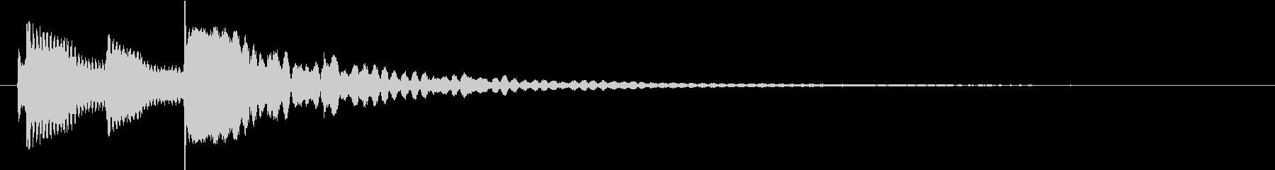 シンプルなチル系ベルのジングルの未再生の波形
