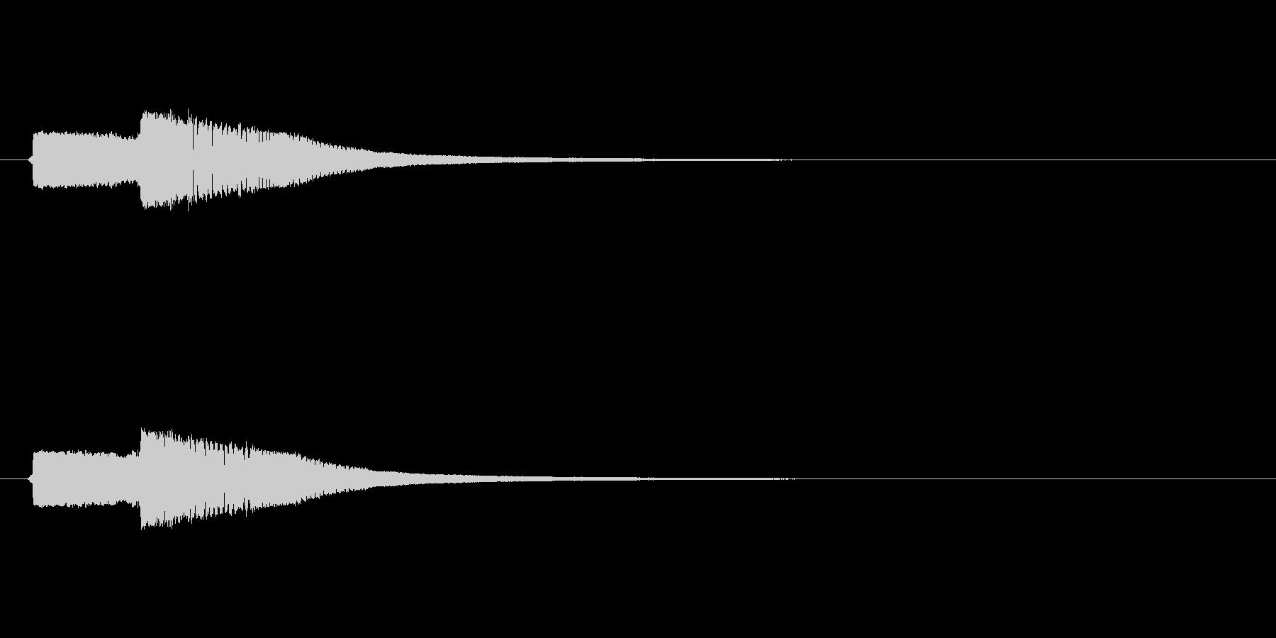 ピコン(お金を入手したときのような音)2の未再生の波形
