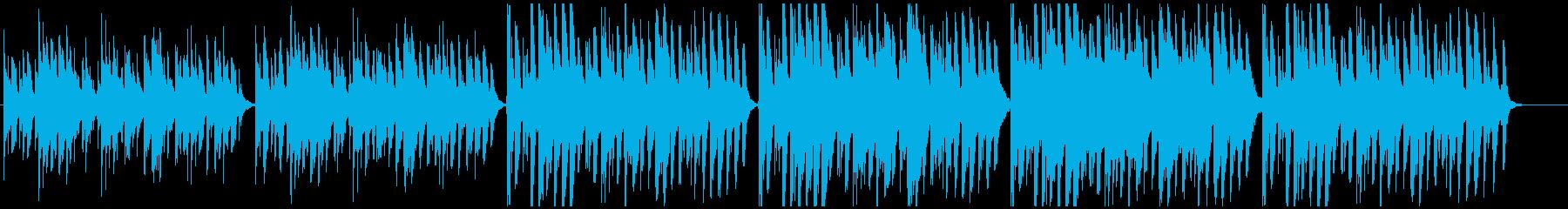 優しく穏やかな夢 子供 シンプル ハープの再生済みの波形