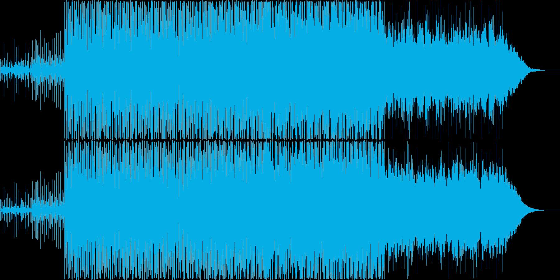 前向きな南国トロピカル風BGMですの再生済みの波形