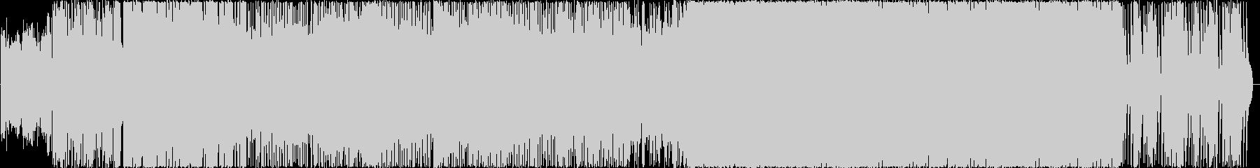 激しいデジタルロック曲の未再生の波形