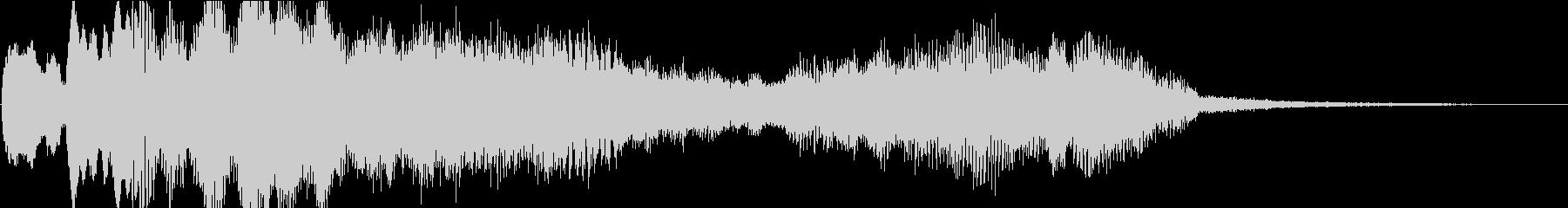 多用途な動画イン・アウトロ用ジングル2の未再生の波形