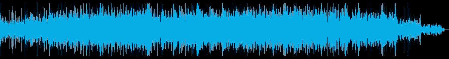 シリアスなオーケストラ調のBGMの再生済みの波形