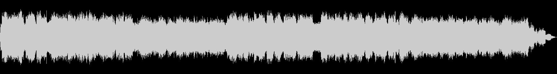 ぼんやりとした幻想的な笛のヒーリング音楽の未再生の波形
