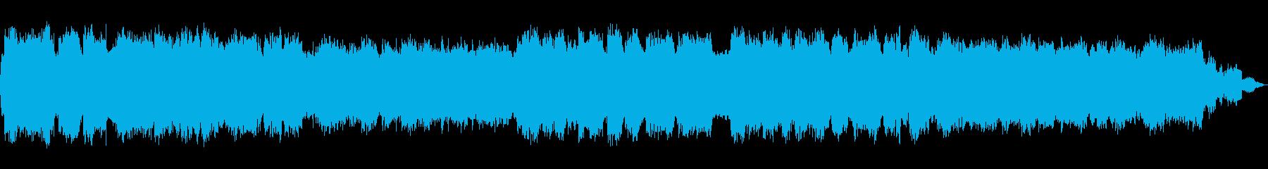 ぼんやりとした幻想的な笛のヒーリング音楽の再生済みの波形