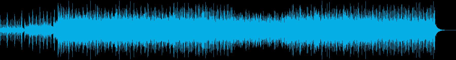希望をイメージした前向きなBGMの再生済みの波形