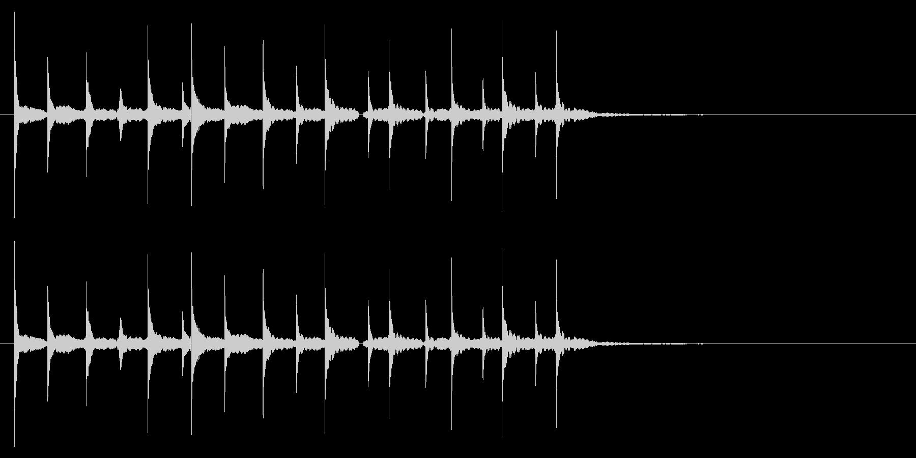 「テレテレテ(マリンバでコミカルな音)」の未再生の波形